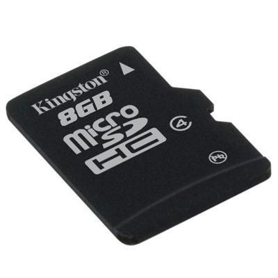 Kingston MicroSDHC 8GB (Class 4)  4 MB/s