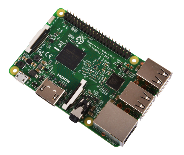Raspberry Pi 3 enkortsdator (Model B)