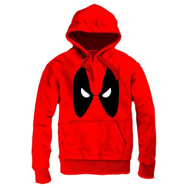 Deadpool - Angry Eyes Men Hoodie - Red (XL)