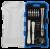 DELTACO Smartphone reparationsverktygssats, alu skruvmejsel, sugkopp, 17 st, svart