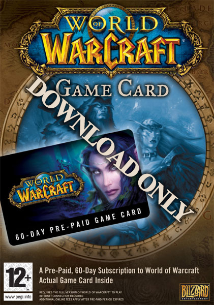 Amazon.com: World of Warcraft 60 Day Pre-Paid Time Card ...