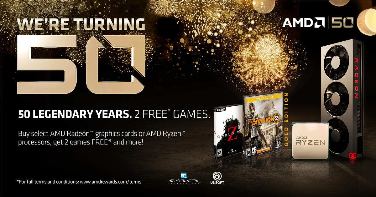 AMD 50 Years Game Bundle - Webhallen com